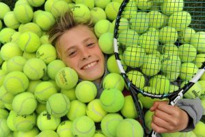 """Kasper or """"Kap"""" as his friends call him, Smith, 12, of Boulder, has battled back from serious complications from a strep infection to win singles and doubles titles at the Muterspaw USGA Regional segment national tournament in September. He practices with coach Kendall Chitambar at the Rocky Mountain Tennis Center in Boulder. Helen H. Richardson, The Denver Post"""